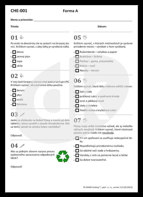 cd44ae23a4c2 Test CHE-001 Aké vlastnosti majú látky